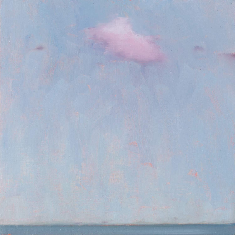 Morning Cloud, 2020, 20x20cm, oil on timber, artwork by Linda Greedy, Fine Artist Port Stephens NSW